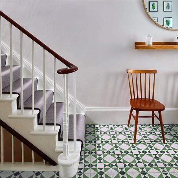 Green Asquith Tile Tiles - Handmade