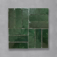 Green Bejmat Tile Tiles - Glazed