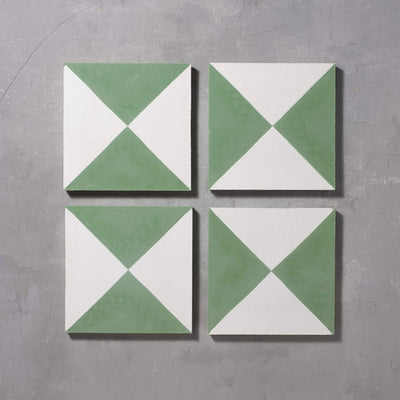 Green Churriana Tile Tiles - Handmade