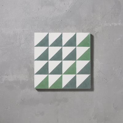 Green Majadas Tile Tiles - Handmade