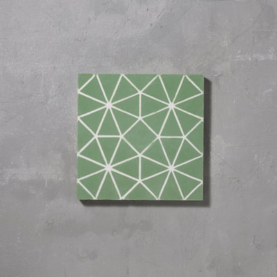 Green Octagon Tile Tiles - Handmade