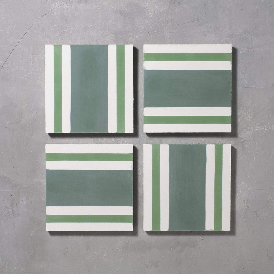 Green Pesadilla Tile Tiles - Handmade