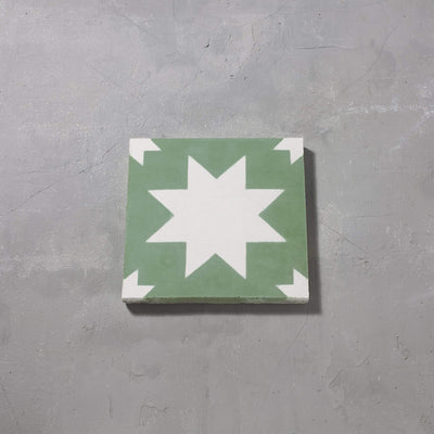 Green Pradena Tile Tiles - Handmade