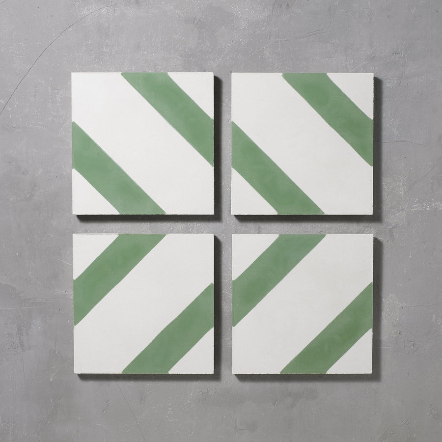 Green Salon Tile Tiles - Handmade