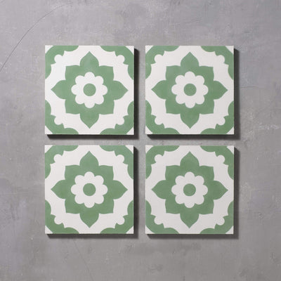 Green Santona Tile Tiles - Handmade