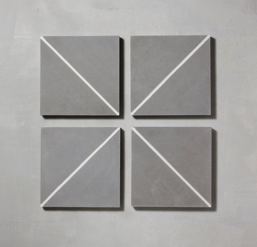 Grey Pencil Alalpardo Tile Tiles - Handmade
