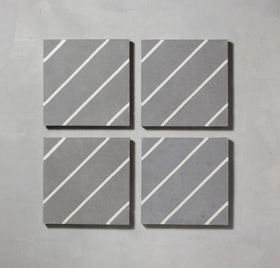 Grey Pencil Salon Tile Tiles - Handmade