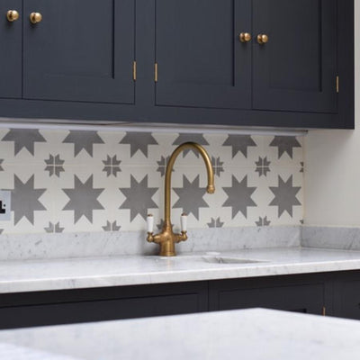 Grey Pradena Tile Tiles - Handmade