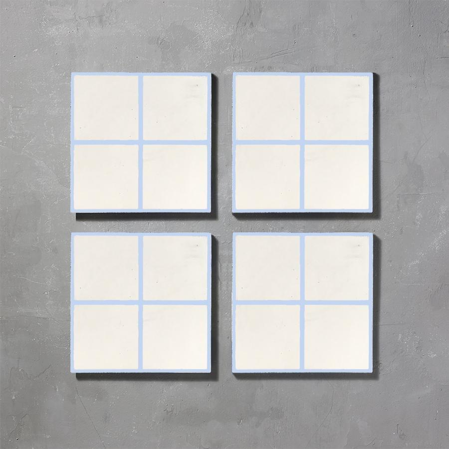Grid 04 Inverse Lake Tile Tiles - Handmade