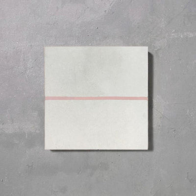 Grid line Inverse Blush Tile Tiles - Handmade