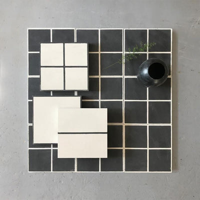 Grid line Tile Tiles - Handmade