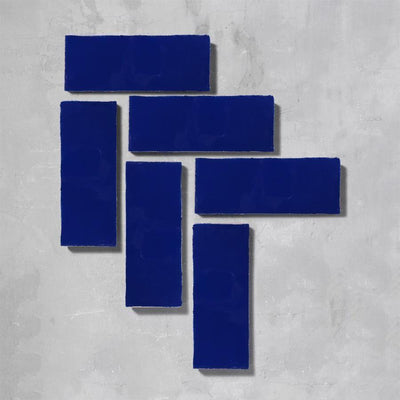 Ink Blue Glazed Rectangle Tile Tiles - Glazed