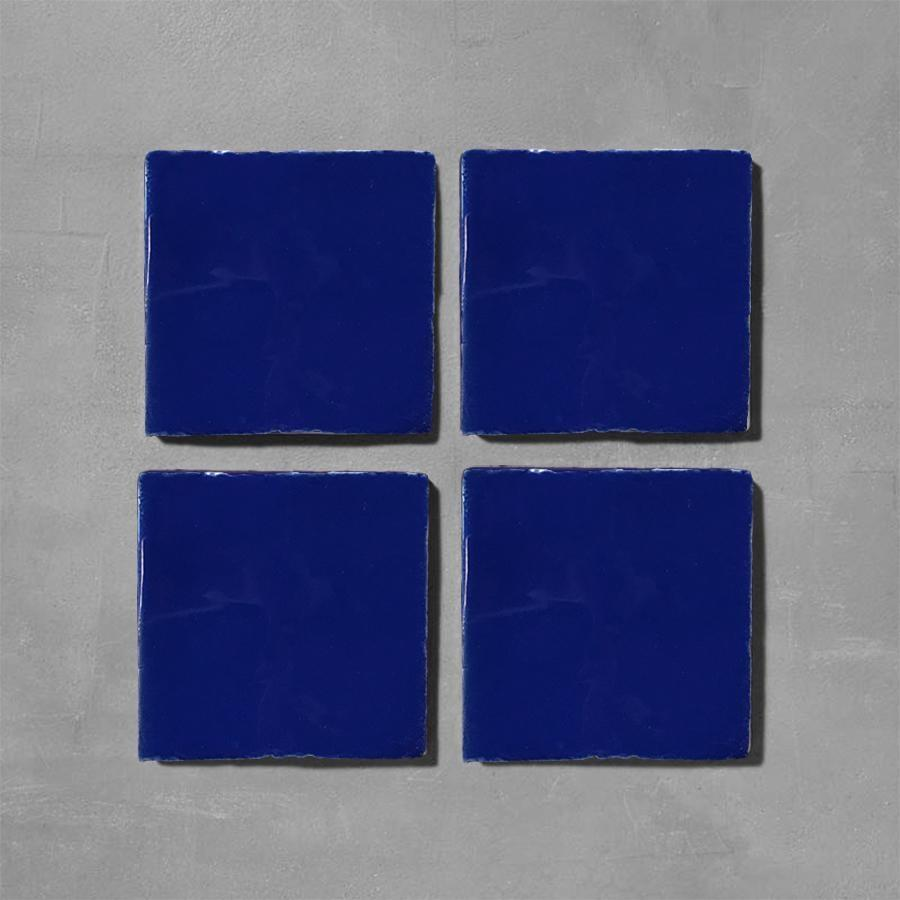 Ink Blue Glazed Square Tile Tiles - Glazed