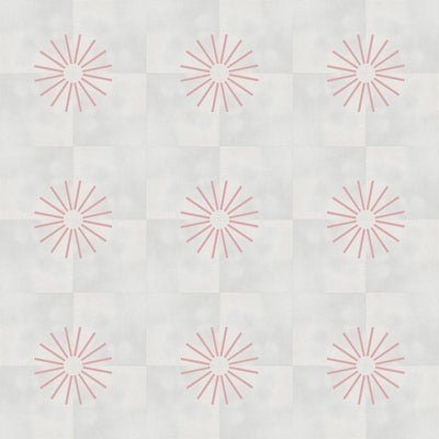 Inverse Blush Spokes Tile Tiles - Handmade