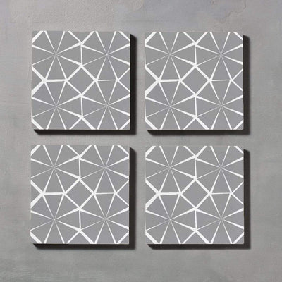 Inverse Grey Octagon Tile Tiles - Handmade
