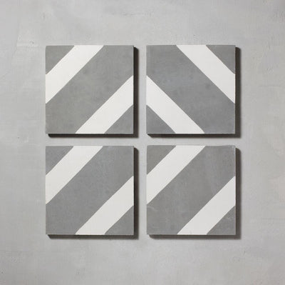 Inverse Grey Salon Tile Tiles - Handmade