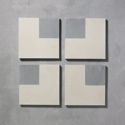 Inverse Pearl Square Tiles - Handmade