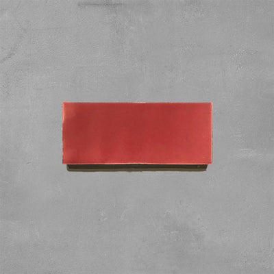 Lobster Red Glazed Rectangle Tile Tiles - Glazed