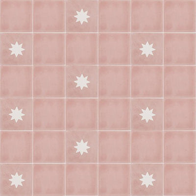 Luna Rose Tile Tiles - Handmade