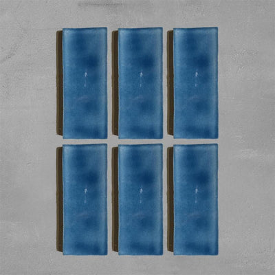 Marine Blue Glazed Rectangle Tile Tiles - Glazed