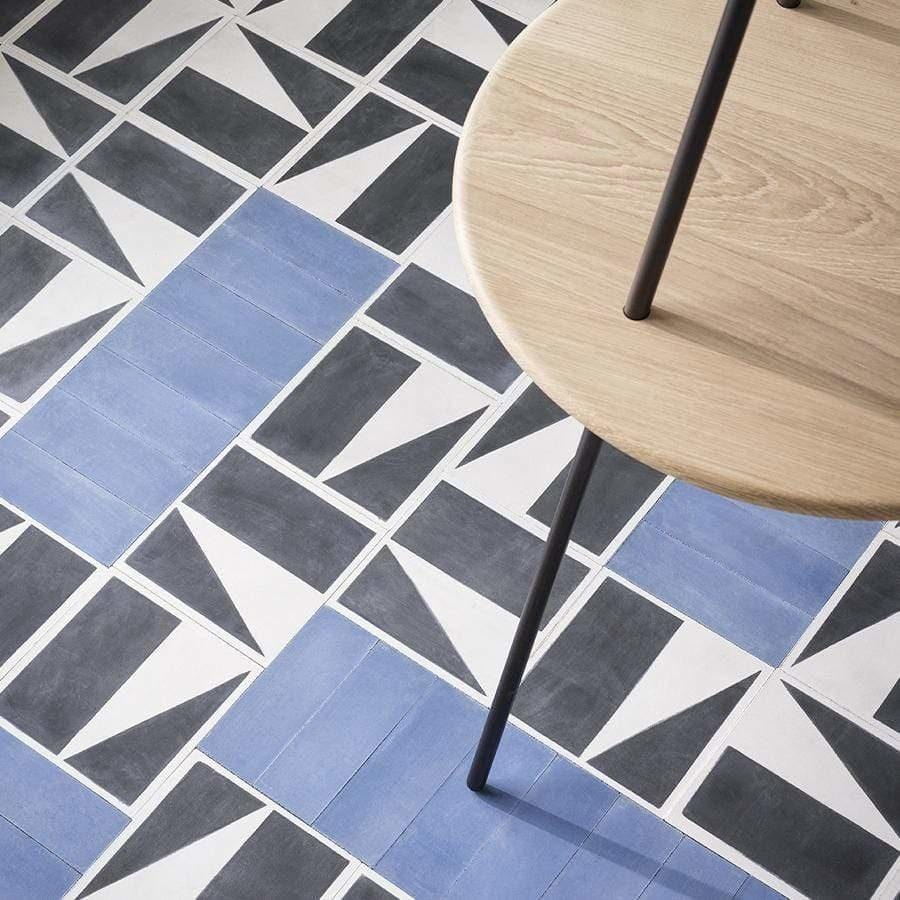Petrol Blue Herringbone Tile Tiles - Handmade