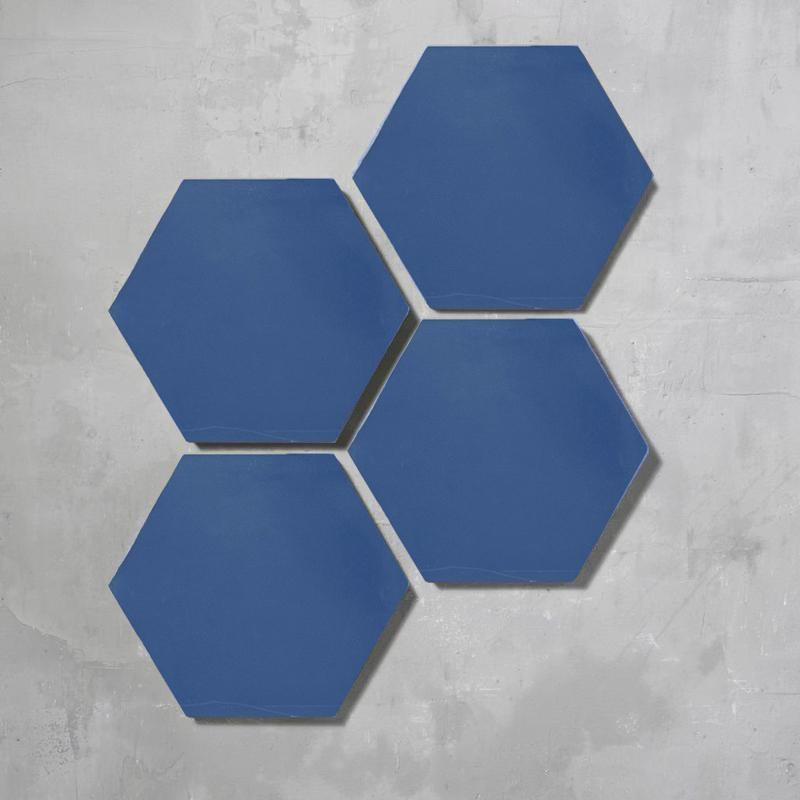 Petrol Blue Hexagonal Tile Tiles - Handmade