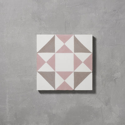 Pink Asquith Tile Tiles - Handmade