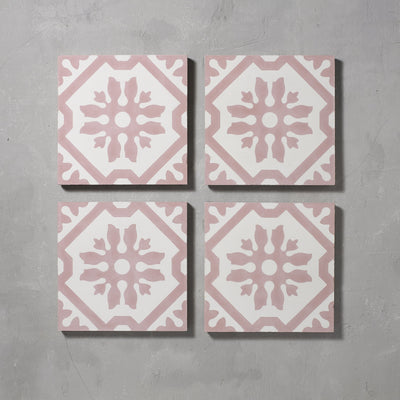 Pink Basco Tile Tiles - Handmade