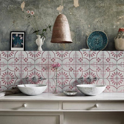 Bolonia Pink Tile (FE Exclusive) Tiles - Handmade