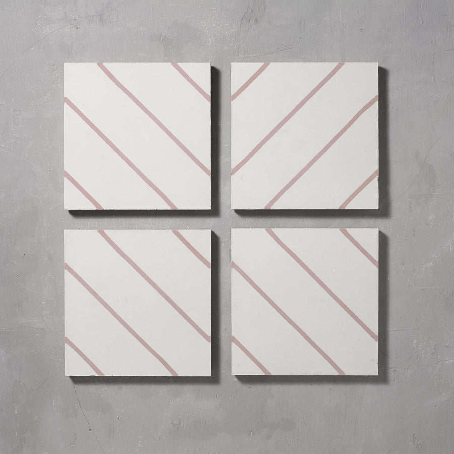 Pink Pencil Salon Tile Tiles - Handmade
