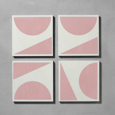 Pink Split Shift Three Tiles - Handmade