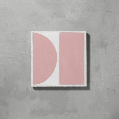 Pink Split Shift Two Tiles - Handmade