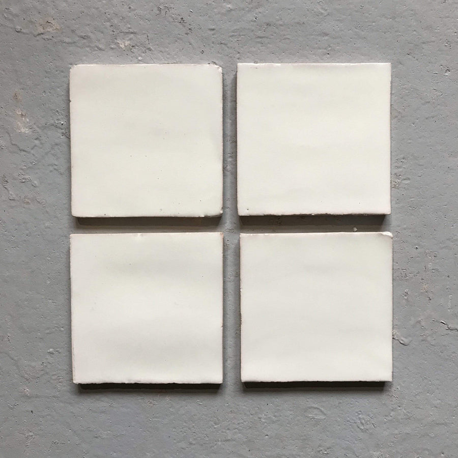 Polar White Glazed Square Tile Tiles - Glazed