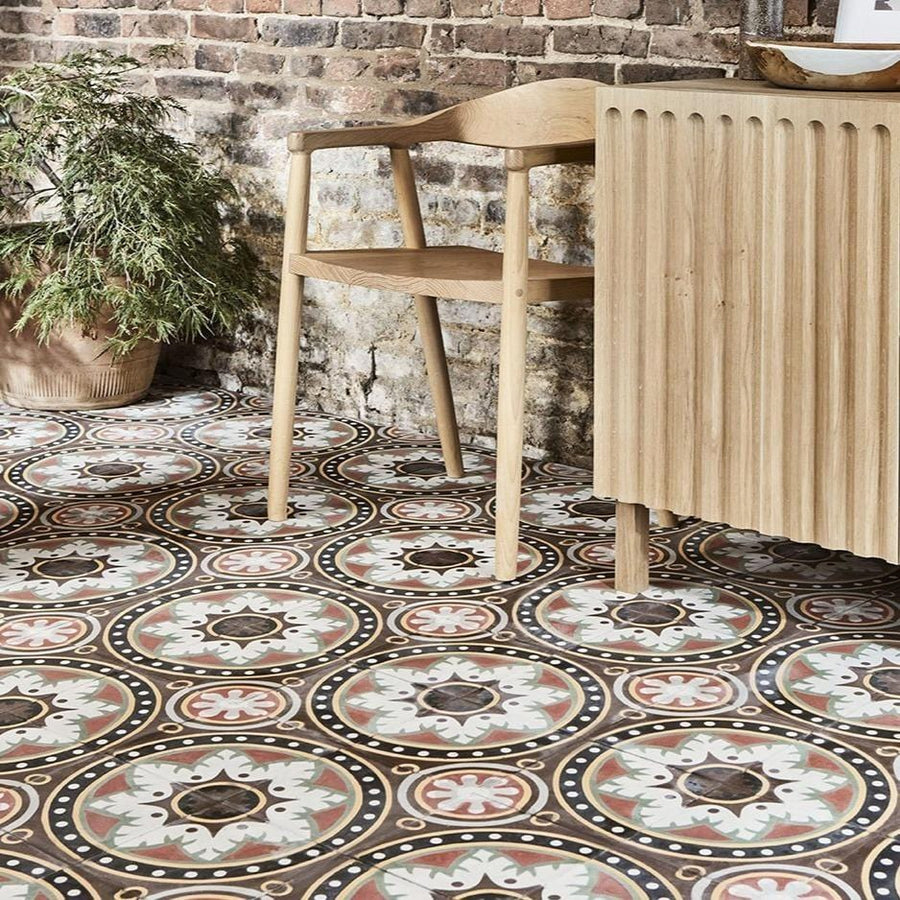 Quinta Marron Tile Tiles - Handmade