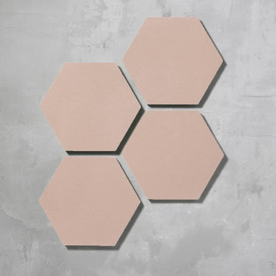 Rose Hexagonal Tile Tiles - Handmade