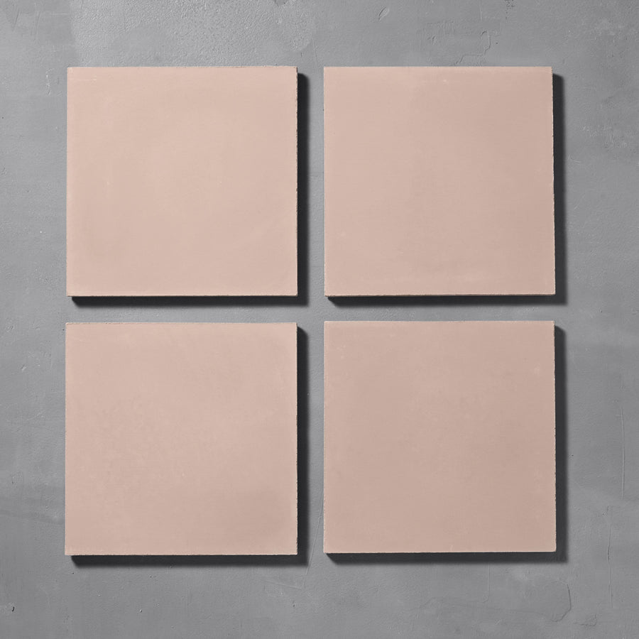 Rose Plain Tile Tiles - Handmade