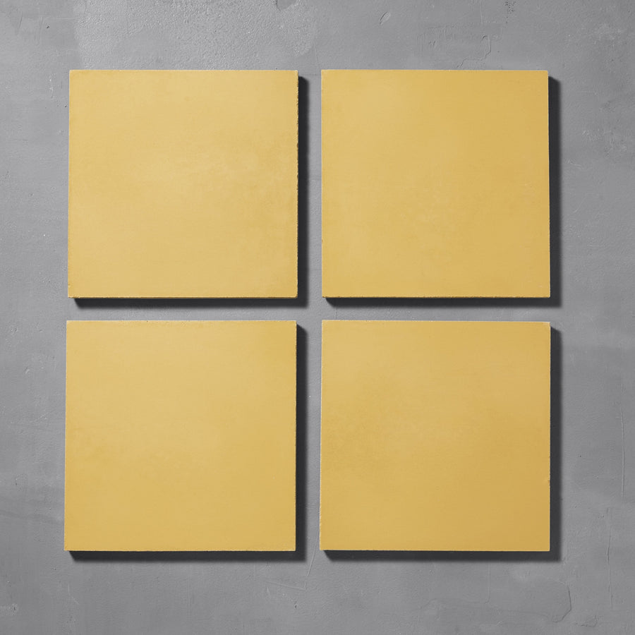 Canola Yellow Plain Tile Tiles - Handmade