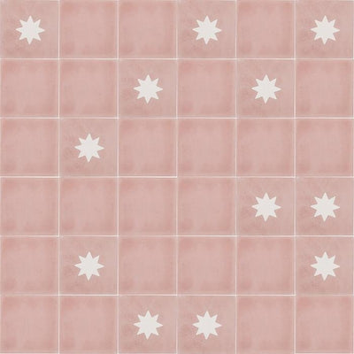Small Rose Tile Tiles - Handmade