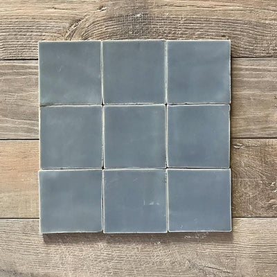 Stormy Grey Glazed Square Tile Tiles - Glazed