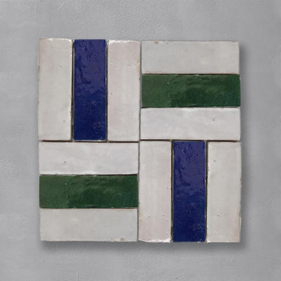 White Bejmat Tile Tiles - Glazed