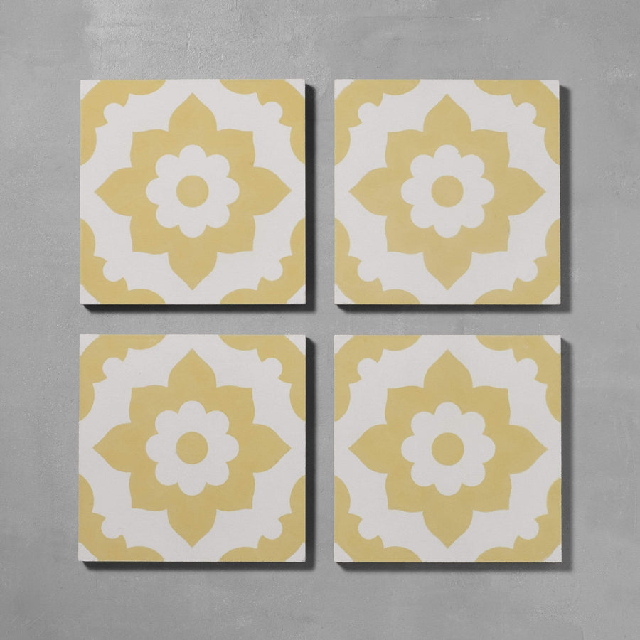 Yellow Santona Tile Tiles - Handmade