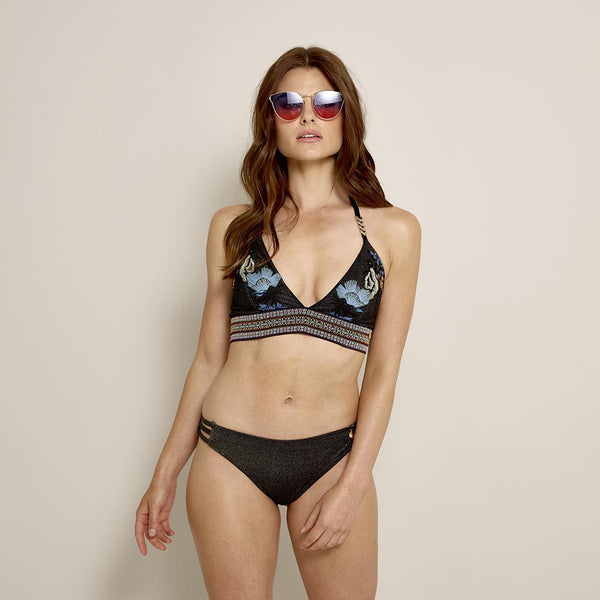 Swimwear Monica Triangle Swimlette S / BLACK GOLD MULTI