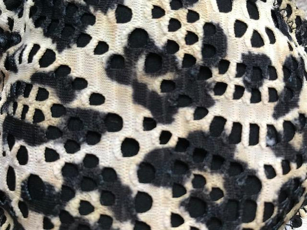 Swimwear PrettyMi | Wild Cat Triangle | Snow Leopard Print CREAM PRINT MULTI / S