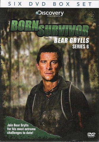 BORN SURVIVOR Bear Grylls Complete Series 6 Collection 6 DVD Box Set PAL.CoverImg