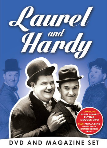 Laurel & Hardy DVD & Bookazine Gift Set