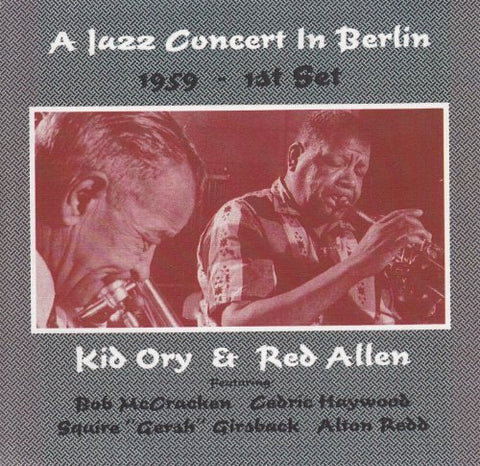 A Jazz Concert In Berlin 1959 - 1st Set (CD)