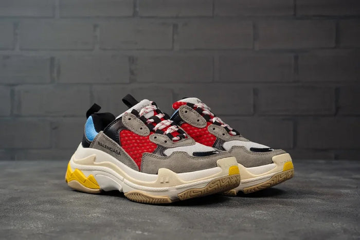 Balenciga Triple S Grey Blue Red