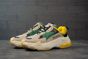 Balenciga Triple S Beige Green Yellow - Game Over Shop