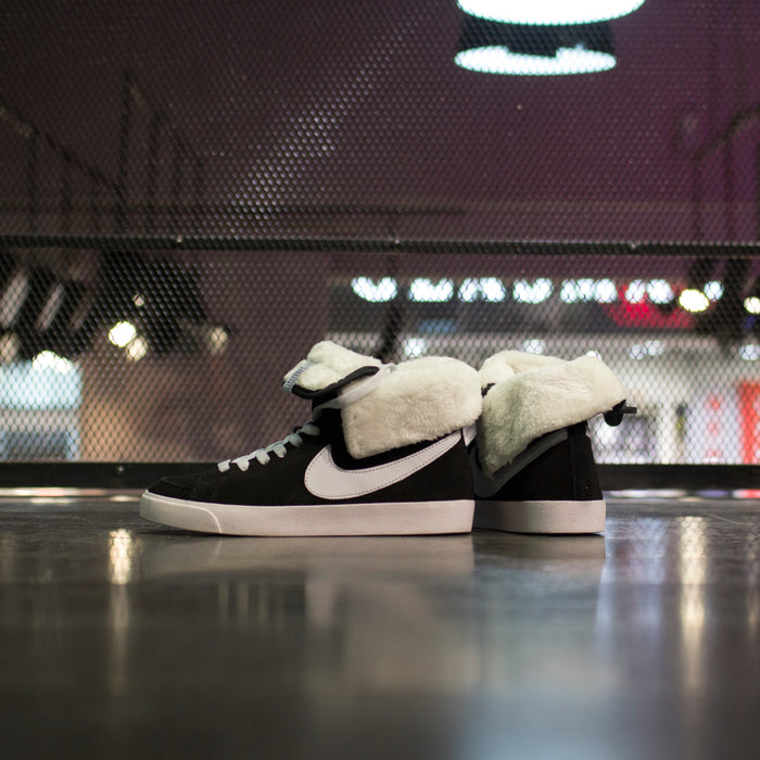 Nike  Blazer High Roll Suede Black Dusty Grey