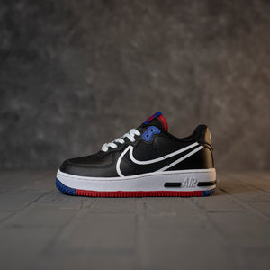Nike Air Force 1 Low React Black Red Blue